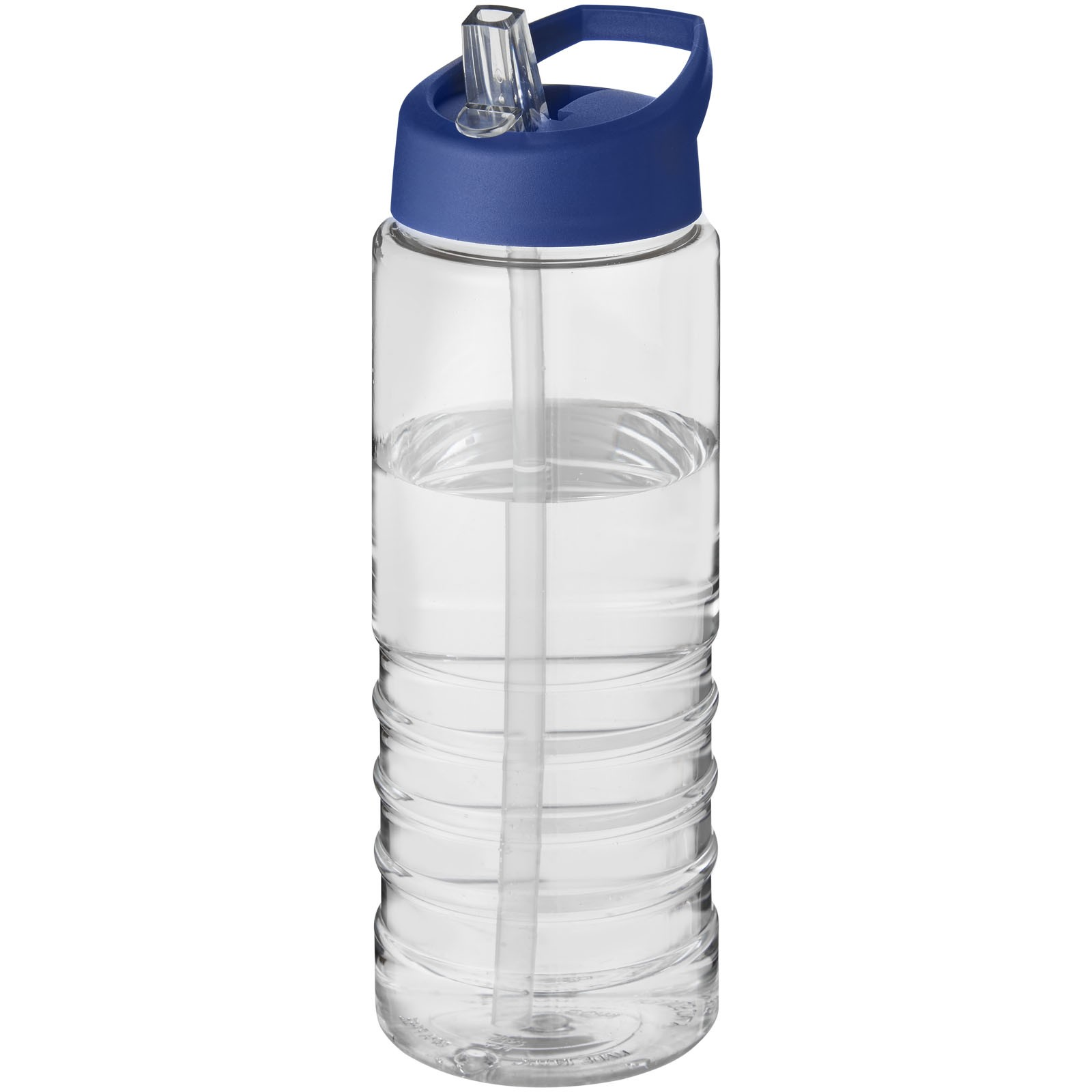H2O Treble 750 ml sportovní lahev s víčkem s hubičkou - Průhledná / Modrá