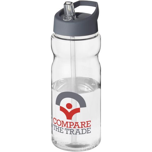 Sportovní láhev s víčkem s hubičkou H2O Base® 650 ml - Průhledná / Storm Grey