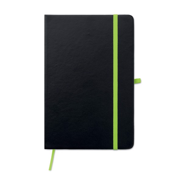 Laser PU cover notebook Laser Note - Lime
