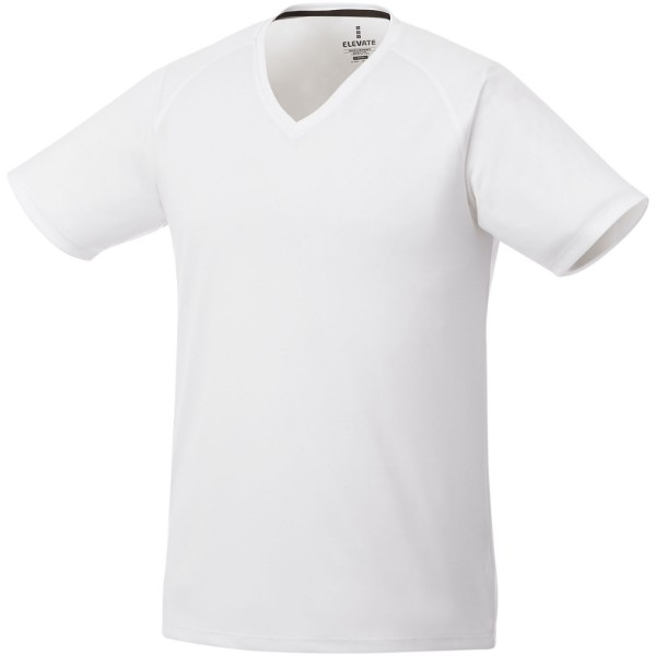 Amery short sleeve men's cool fit v-neck shirt - White / 3XL