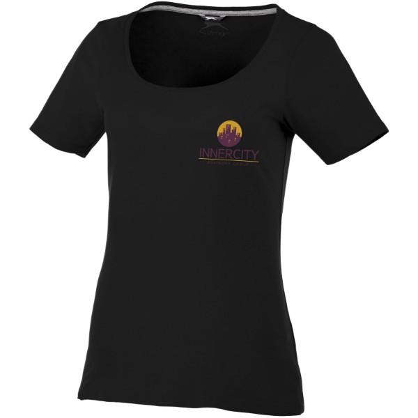 Dámské triko Bosey s hlubším kulatým výstřihem - Černá / S