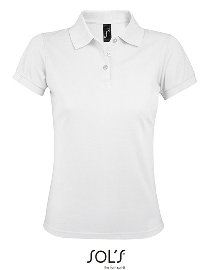 Women`S Polo Shirt Prime - White / M