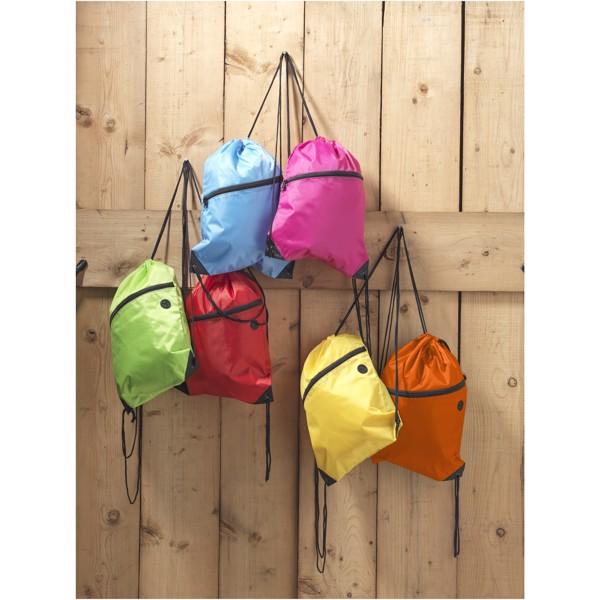Oriole šňůrkový batoh se zipem - Světle modrá