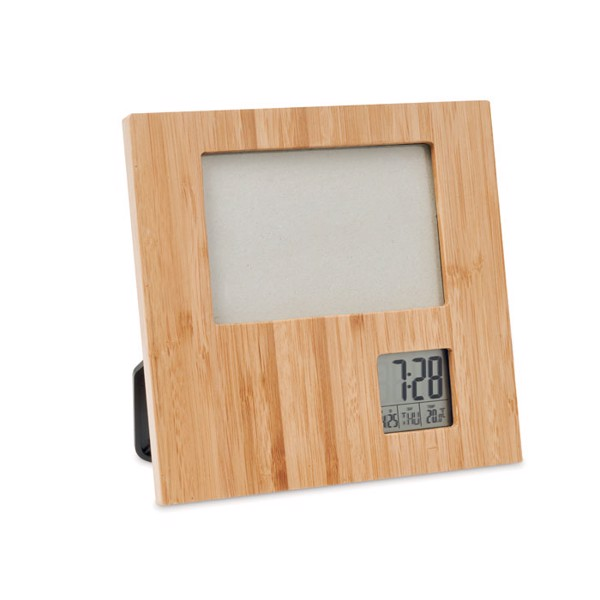 Photo frame with weather statio Zenframe