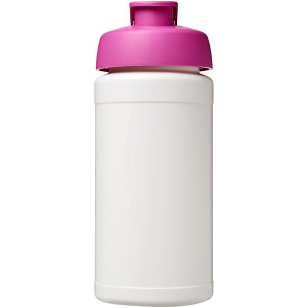 Baseline® Plus 500 ml flip lid sport bottle - White / Pink