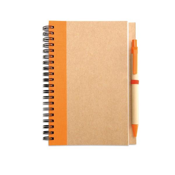 Notes z długopisem Sonora Plus - pomarańczowy