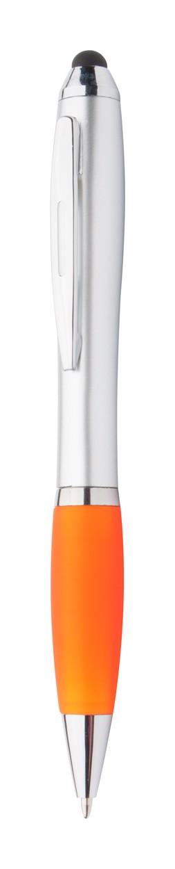 Touch Ballpoint Pen Tumpy - Orange / Silver