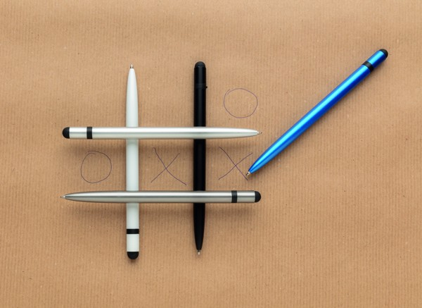 Tenké hliníkové stylusové pero - Modrá