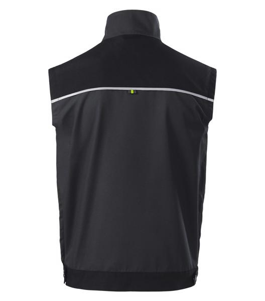 Pracovní vesta pánská Rimeck Ranger - Ebony Gray / S