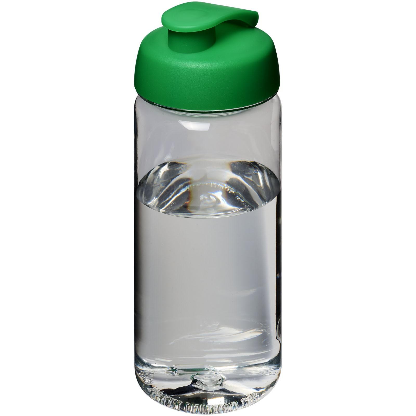 H2O Octave Tritan™ 600 ml flip lid sport bottle - Transparent / Green