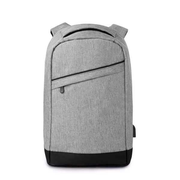 2 tone backpack incl USB plug Berlin - Grey