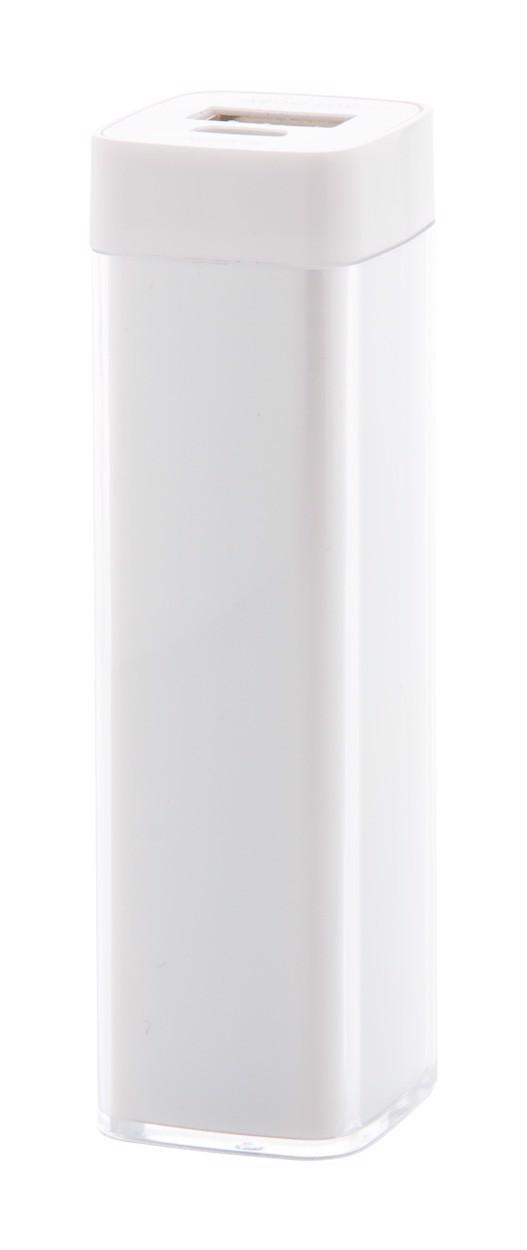 USB polnilna baterija Electrize - bela
