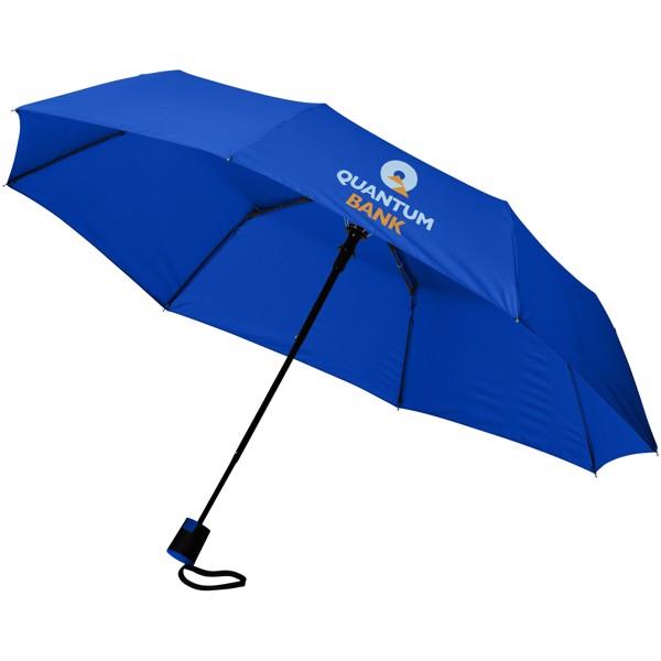 """Skládací deštník Wali 21"""" s automatickým otvíráním - Světle modrá"""