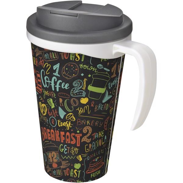 Brite-Americano Grande 350 ml mug with spill-proof lid - Biały / Szary