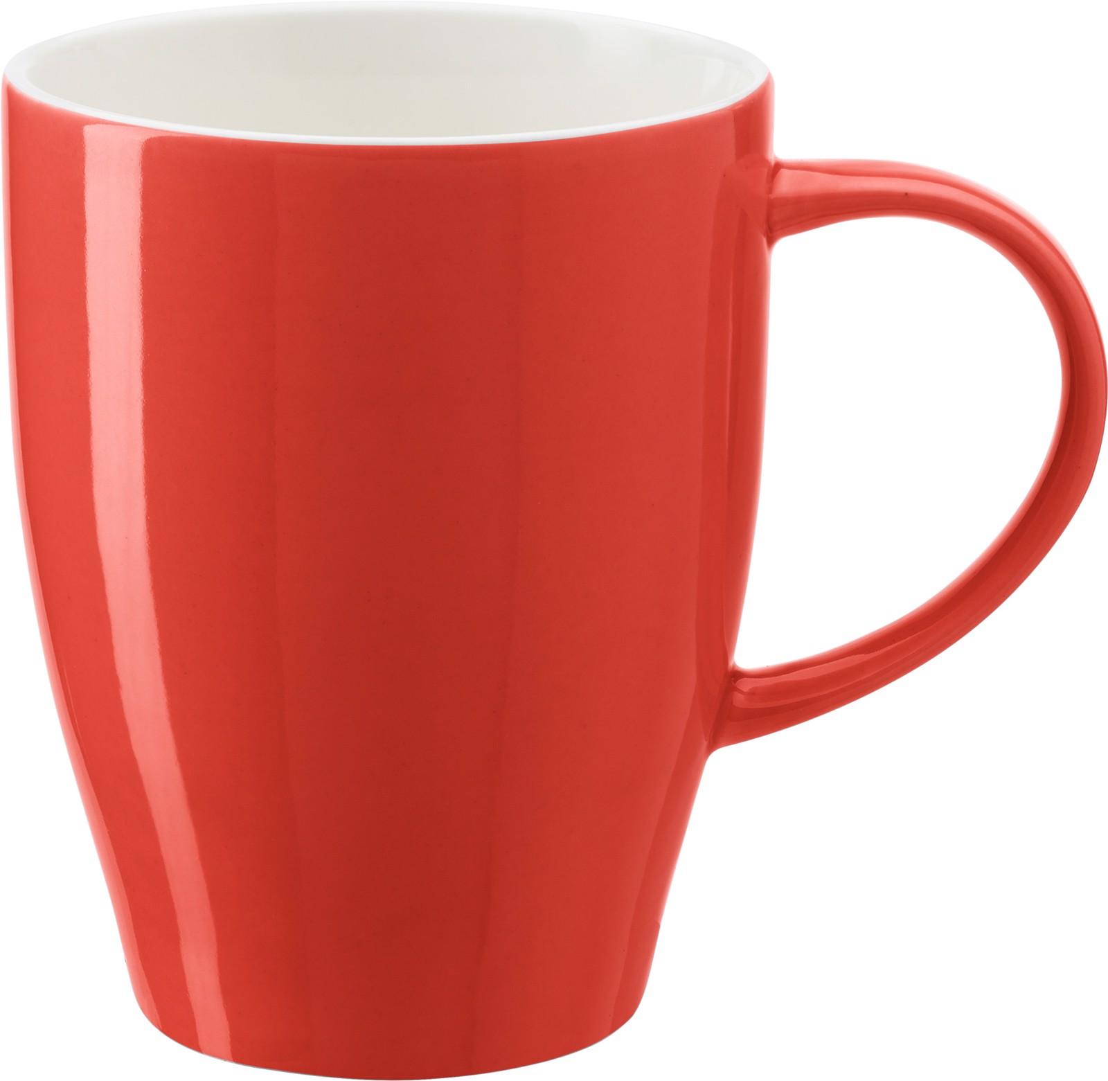 Porcelain mug - Red