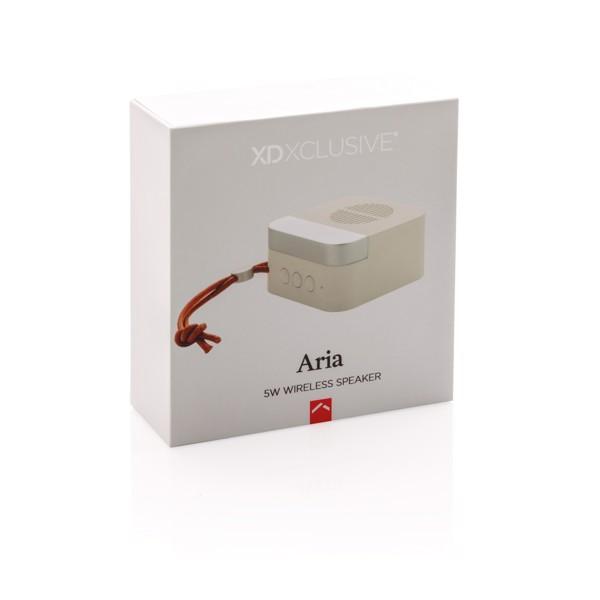 5W bezdrátový reproduktor Aria - Bílá