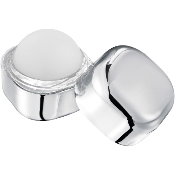 Rolli metallic non-SPF lip balm cube - Silver