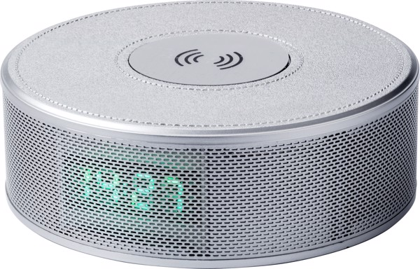 Wireless speaker with charging station