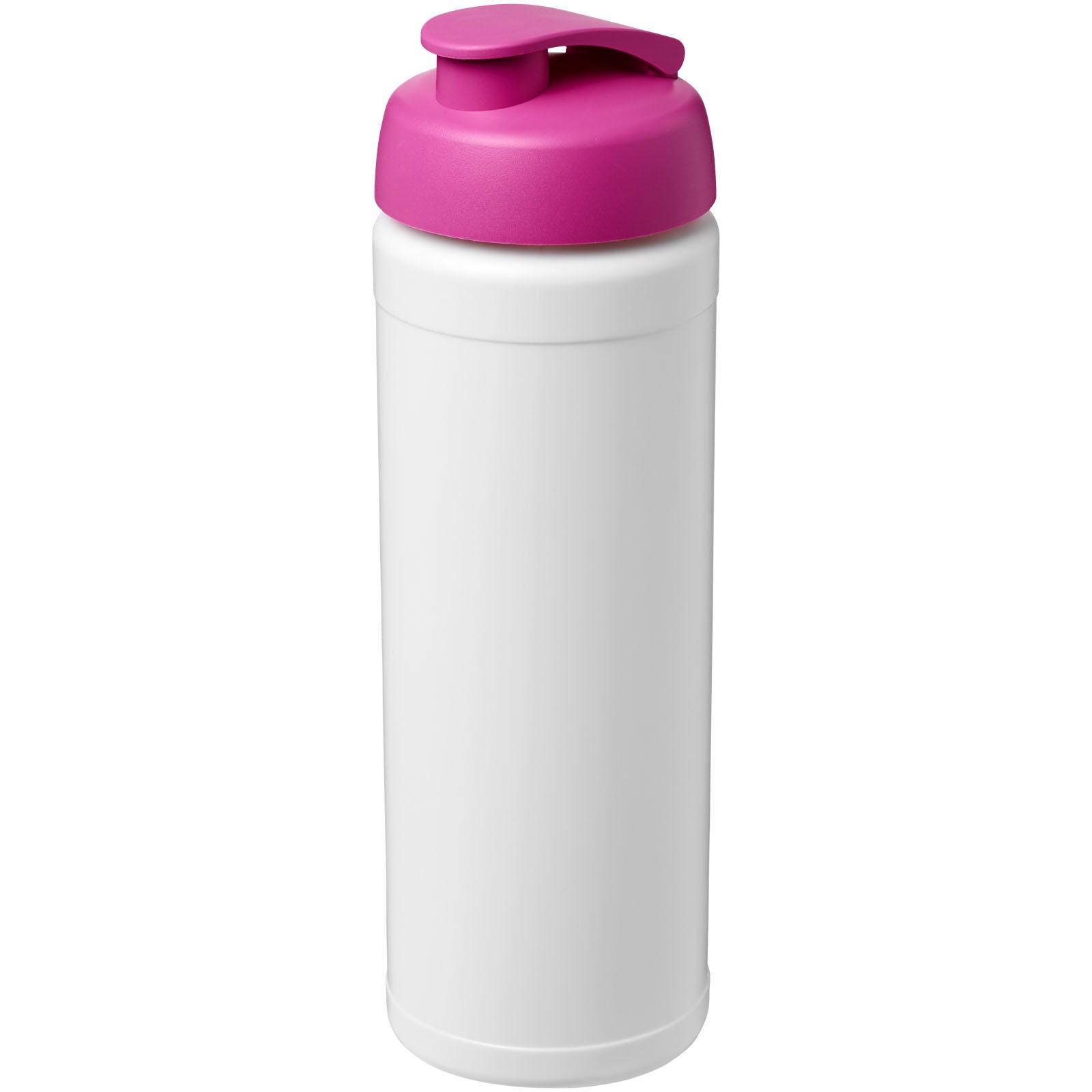 Baseline® Plus 750 ml flip lid sport bottle - White / Pink