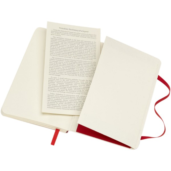 Classic PK soft cover notebook - dotted - Scarlet red