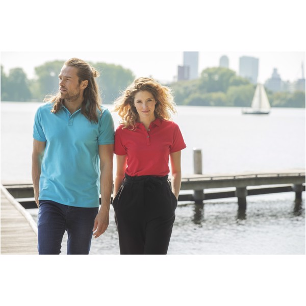 Beryl short sleeve women's GOTS organic GRS recycled polo - Red / S