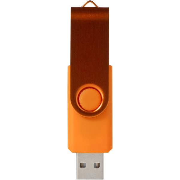 USB disk Rotate-metallic, 2 GB - 0ranžová