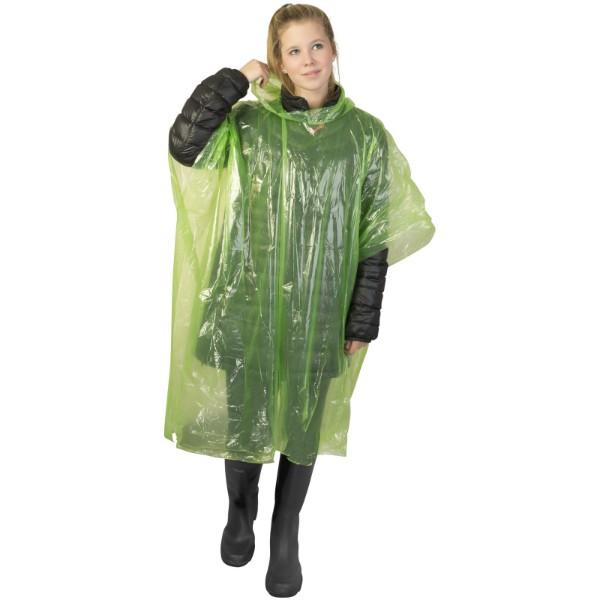 Ziva Einweg Regenponcho mit Hülle - Limone