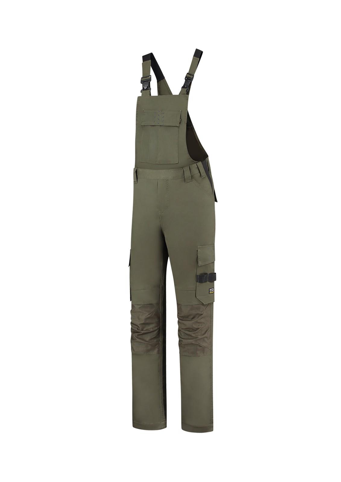 Pracovní kalhoty s laclem unisex Tricorp Bib & Brace Twill Cordura - Army / 60