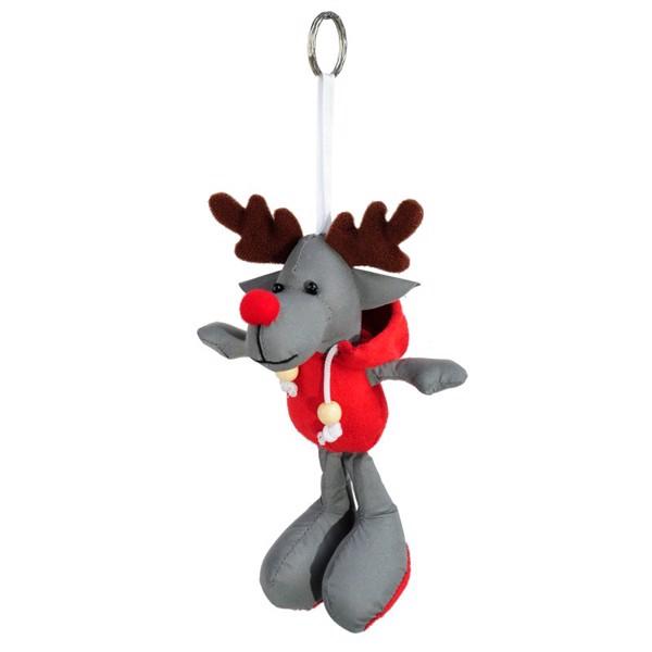 Reindeer reflecive keyring
