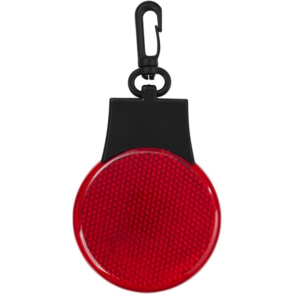 Odrazka a LED svítilna Blinki - Červená s efektem námrazy