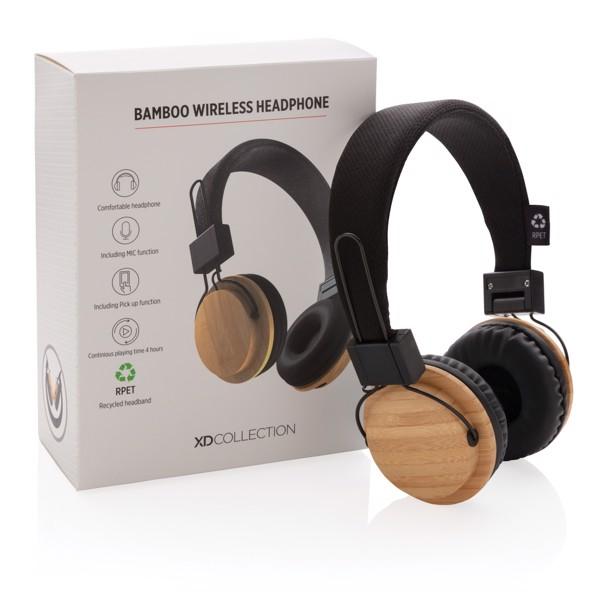 Bambusz vezeték nélküli fejhallgató