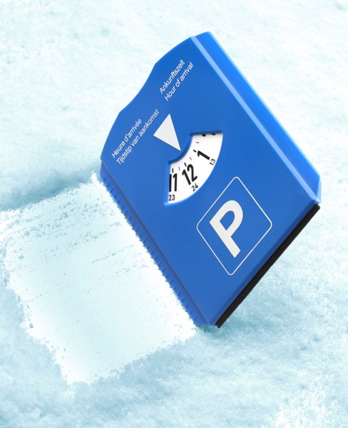 Plastic 2-in-1 parking disc