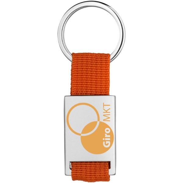 Přívěsek na klíče Alvaro s tkaným páskem - 0ranžová / Stříbrný