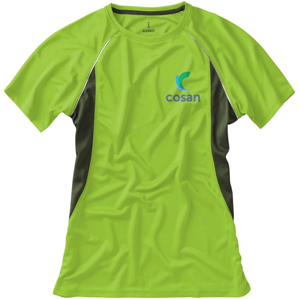 Quebec short sleeve women's cool fit t-shirt - Apple green / Anthracite / XS