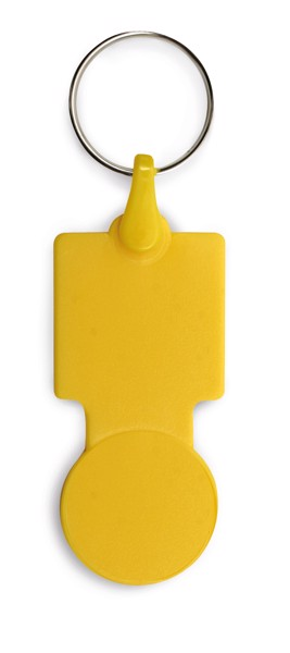 SULLIVAN. Μπρελόκ σε σχήμα νομίσματος για το καρότσι του σούπερ μάρκετ - Κίτρινο