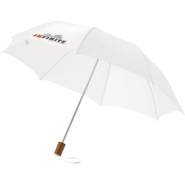 "Paraguas plegable de 20"" ""Oho"" - Blanco"