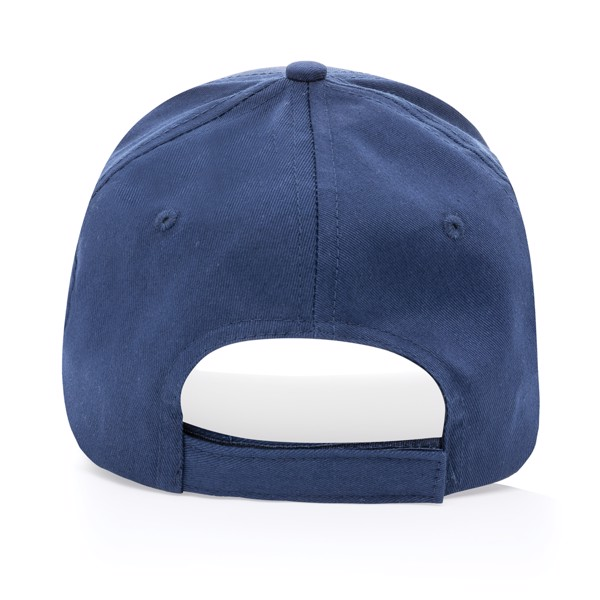 Impact 5 panel 190gr Recycled cotton cap with AWARE™ tracer - Navy