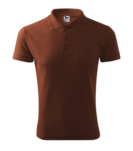 Polo Shirt men's Malfini Pique Polo - Chocolate / XL