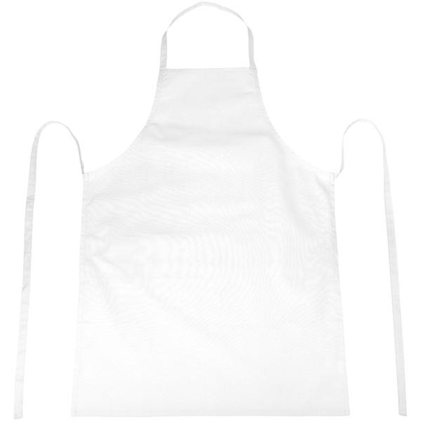 Reeva 100% cotton apron with tie-back closure - White
