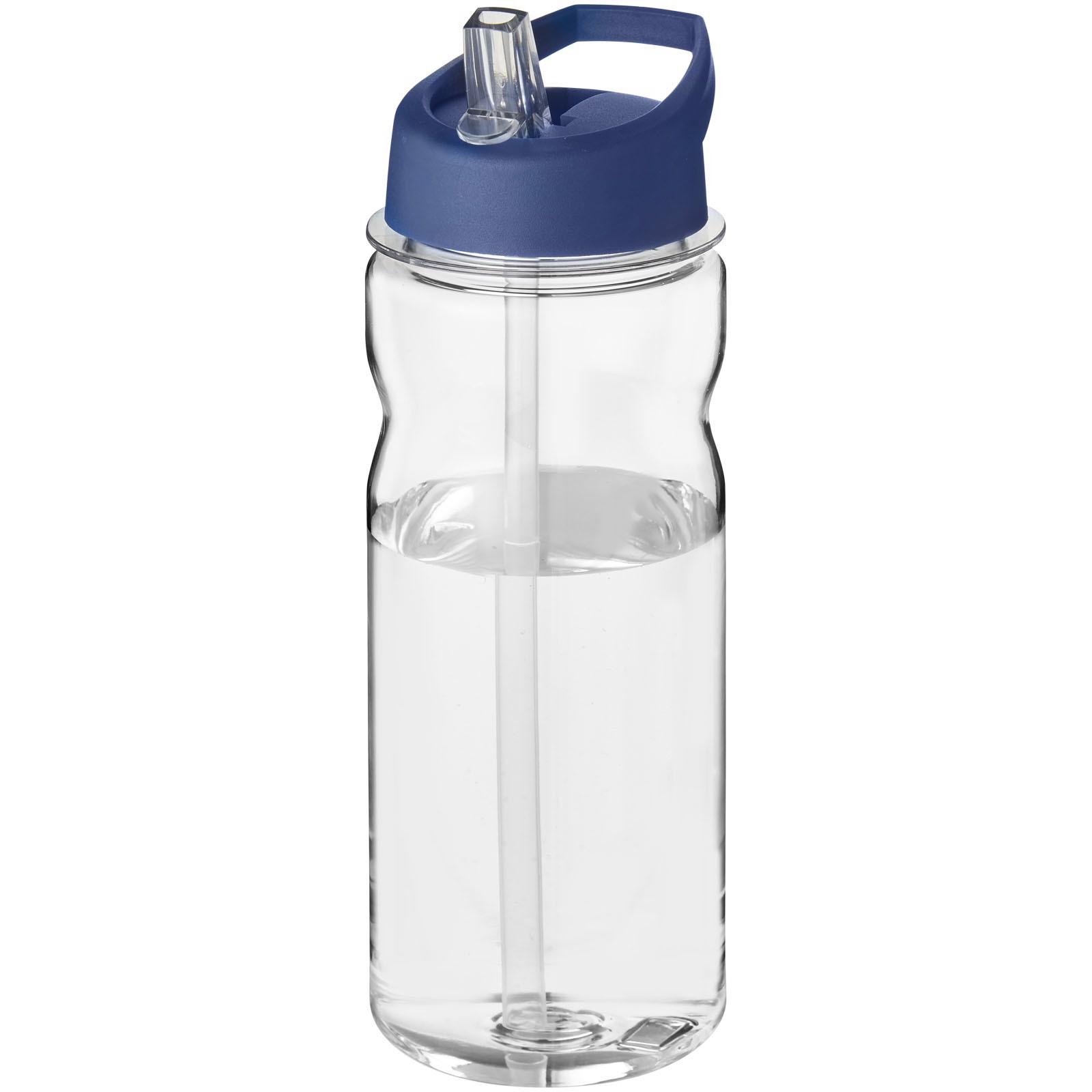 H2O Base Tritan™ 650 ml spout lid sport bottle - Transparent / Blue
