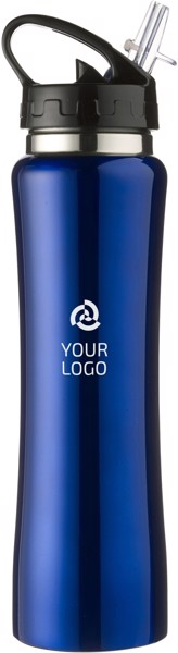 Stainless steel double walled flask - Cobalt Blue