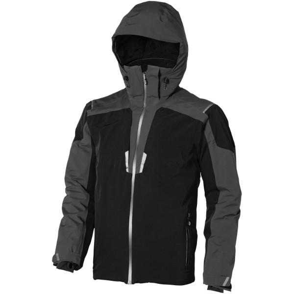 Ozark insulated jacket - Solid black / Grey / XS