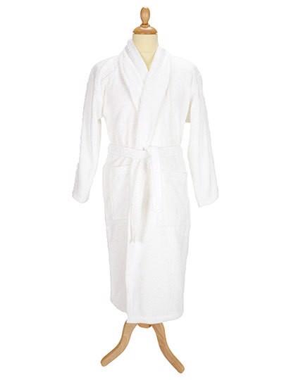 Bathrobe Shawl Collar - White / L/XL