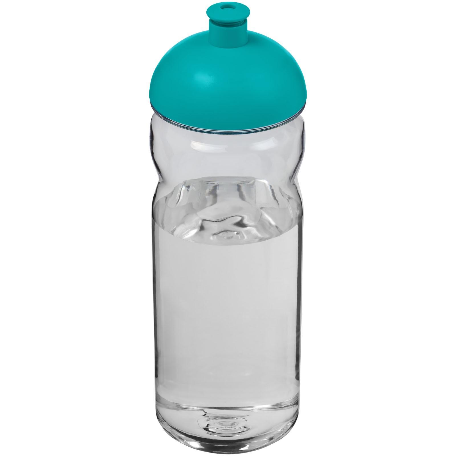 Sportovní láhev s kupolovitým víčkem Base Tritan™ 650 ml - Průhledná / Aqua blue