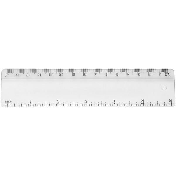 Renzo 15 cm plastic ruler - Transparent clear