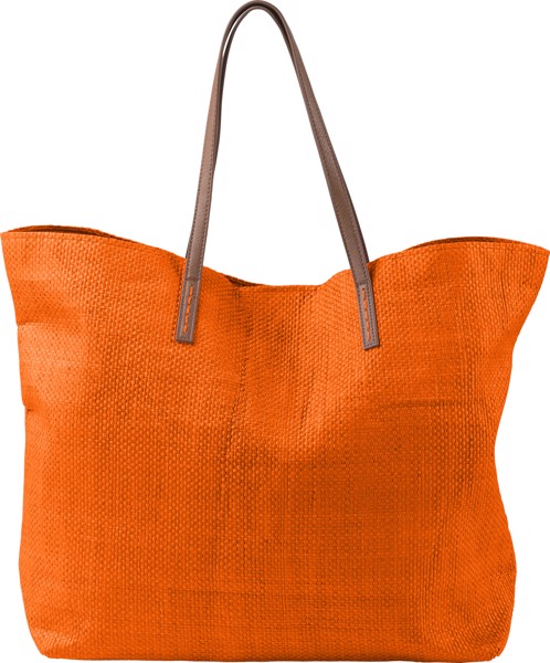 Strandtasche 'Calm' aus Papier - Orange