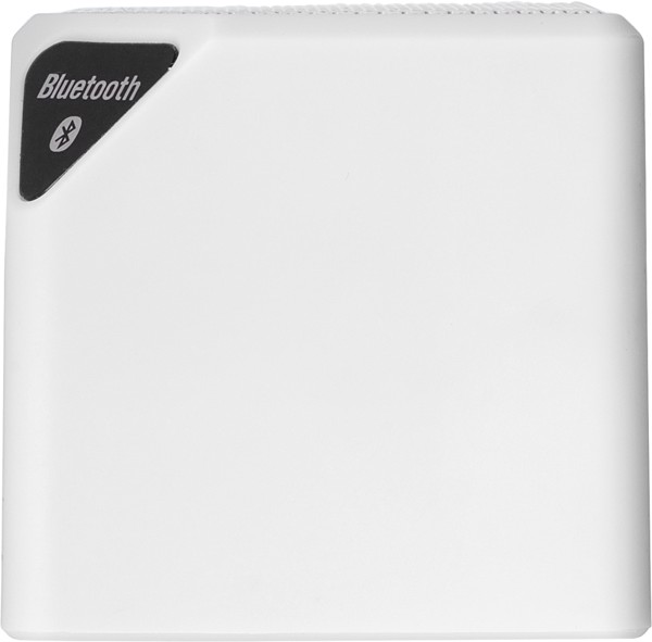 Plastic speaker featuring wireless technology - White