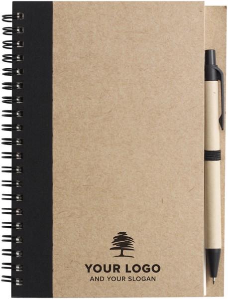Wire bound notebook with ballpen. - Light Blue
