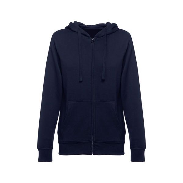 THC AMSTERDAM WOMEN. Sweatshirt para senhora, com fecho e capuz - Azul Marinho / XXL