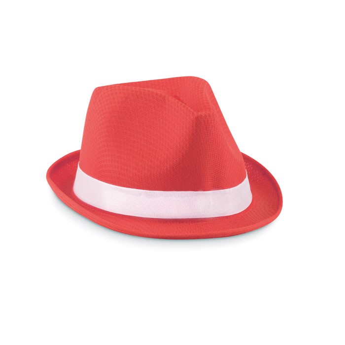 Coloured polyester hat Woogie - Red